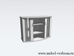 Тумба Аква Классик Панорама дв. со стеклом-1000-730-400