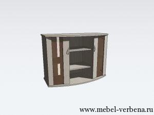 Тумба Аква Классик Панорама дв. со стеклом-1000-730-450