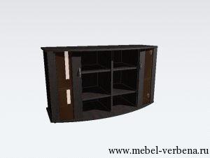 Тумба Аква Классик Панорама-дв. со стеклом-1300-730-500