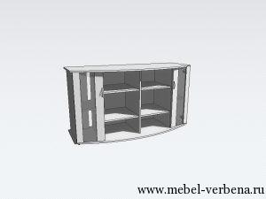 Тумба Аква Классик Панорама дв. со стеклом-1500-730-550