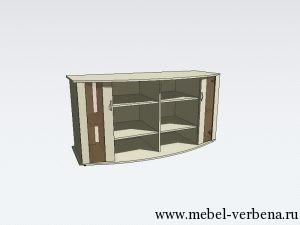 Тумба Аква Классик Панорама-дв. со стеклом-1600-730-500