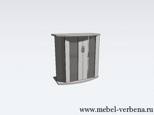Тумба Аква Классик Панорама дв. со стеклом-700-730-350
