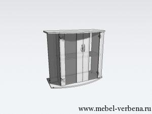 Тумба Аква Классик Панорама дв. со стеклом-800-730-370