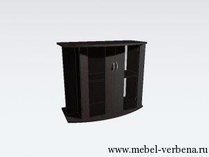Тумба Аква Классик Панорама дв. со стеклом-850-730-400