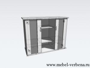 Тумба Аква Классик дв. со стеклом-1000-730-400