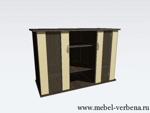 Тумба Аква Классик дв.со стеклом-1150-730-500