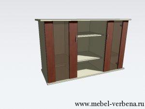 Тумба-Аква-Классик-дв.со-стеклом-1300-800-500
