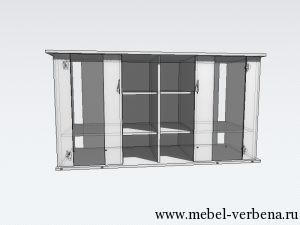 Тумба Аква Классик дв. со стеклом-1500-800-550