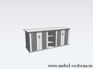 Тумба Аква Классик дв. со стеклом-2000-800-650