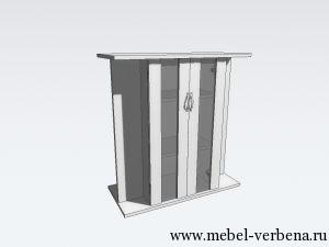 Тумба Аква Классик дв. со стеклом-800-730-370